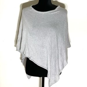 H&M Divided Soft Knit Grey Pull Over Asymmetrical